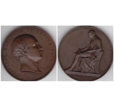 1843 год.   SIR FRANCIS CHANTREY: LAUDATORY MEDAL