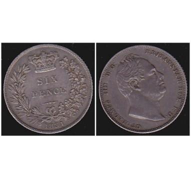 Вильям IV. 6 пенсов 1831г.