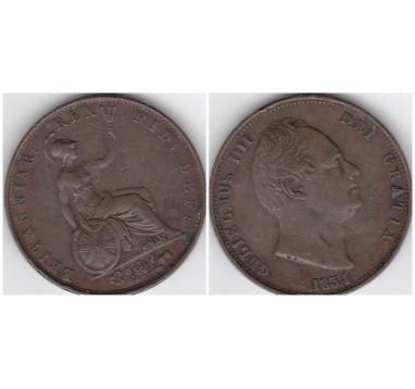 Вильям IV. Полпенни 1834г.
