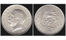 Георг V. 1922г. 6 пенсов