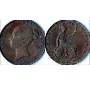 Виктория.  Пенни 1854г.
