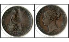 Виктория.  Полпенни 1843г.