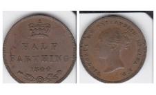 Виктория. Пол  фартинга 1844г.