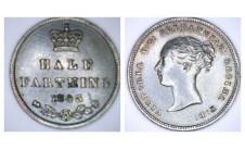 Виктория. Пол  фартинга 1843г.
