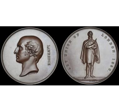 1860 год.  SIR THOMAS LAWRENCE: LAUDATORY MEDAL