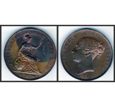 Виктория.  Пенни 1854/3г