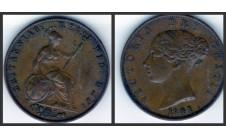 Виктория.  Полпенни 1841г.