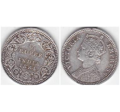 1884г. Индия. 1/4 руппии
