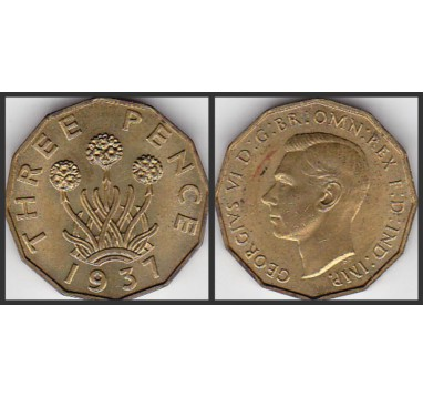 Георг VI. 3 пенса 1937г