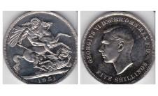 Георг VI. Крона 1951г.