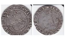 Елизавета I. 6 пенсов 1593г.