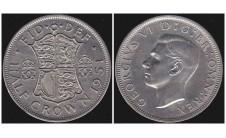 Георг VI. Пол кроны  1951г.