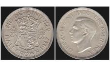 Георг VI. Пол кроны  1937г.