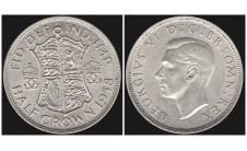Георг VI. Пол кроны  1938г.