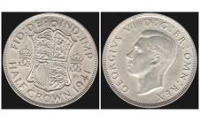 Георг VI. Пол кроны  1941г.