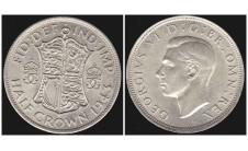 Георг VI. Пол кроны  1943г.