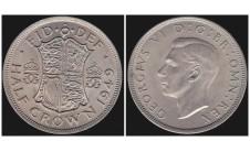 Георг VI. Пол кроны  1949г.