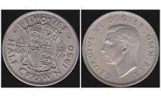 Георг VI. Пол кроны  1950г.