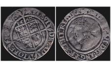 Елизавета I.  6 пенсов 1567г.