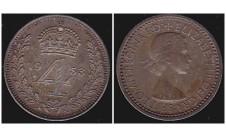Елизавета II. 4 пенса 1953г