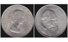 """Елизавета II. Крона 1965г. """"Черчилль""""."""