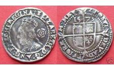 Елизавета I.  3 пенса 1573г.