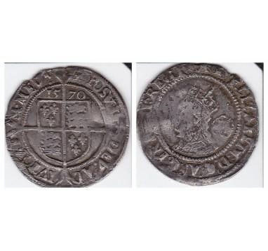 Елизавета I.  6 пенсов 1570г.