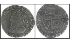 1633-34г.г. Карл I, 6 пенсов (Tower).
