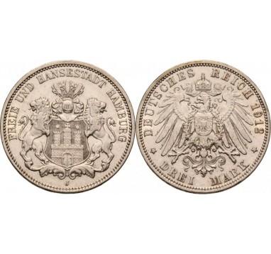 Гамбург. 3 марки 1912г.