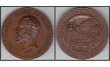 1874 год. Наградная медаль международной выставки в Лондоне.