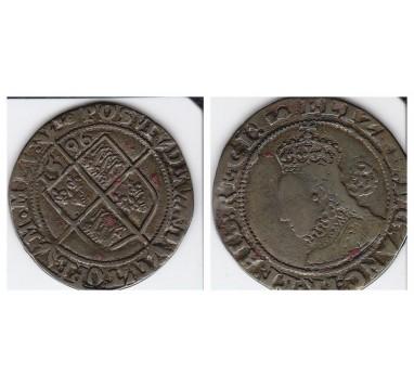 Елизавета I. 6 пенсов 1596г.