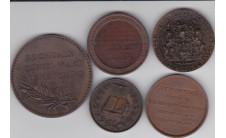 Лот из 5 Британских медалей.