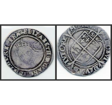 Елизавета I.  6 пенсов 1567 г.