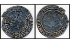 Елизавета I.  6 пенсов 1569г.
