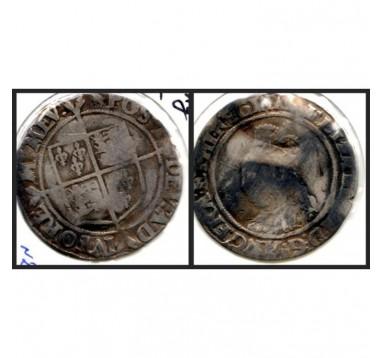 Елизавета I. Шиллинг 1560-1561г.г.