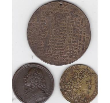 18 век. Великобритания, лот медалей