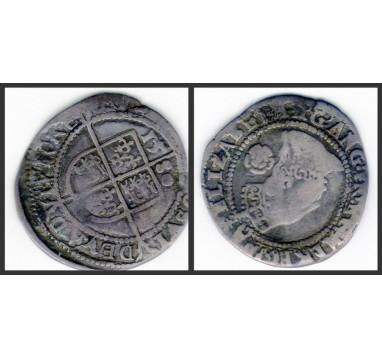 Елизавета I. 3 пенса 1580г.