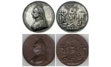 1887г. 50 лет правления. Официальные медали.