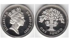 Елизавета II фунт 1987г.
