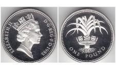 Елизавета II фунт 1985г. Пъедфорт!