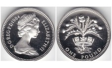 Елизавета II фунт 1984г.