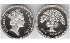 Елизавета II фунт 1987г. Пъедфорт!