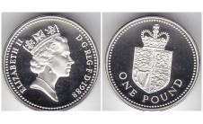 Елизавета II фунт 1988г. Пъедфорт!