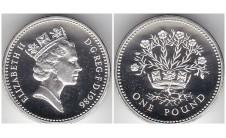 Елизавета II фунт 1986г. Пъедфорт!