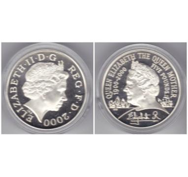Елизавета II 5 фунтов 2000г.