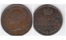 Виктория 1/2 фартинга 1844г.