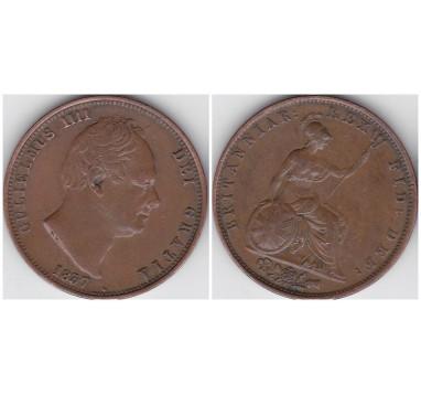 1837г. 1/2 пенни