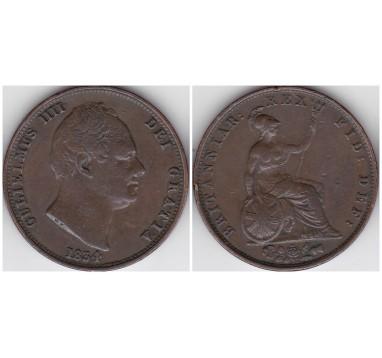 1834г. 1/2 пенни