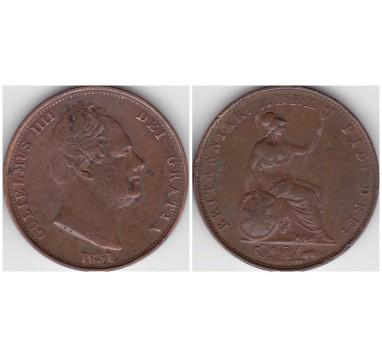 1831г. 1/2 пенни