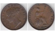 1853г. 1/2 пенни